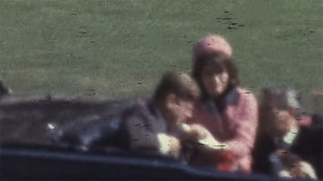 JFK as he's being assassinated